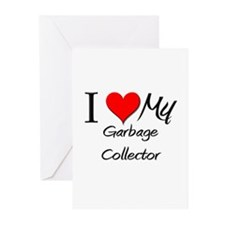 I Heart My Garbage Collector Greeting Cards (Pk of