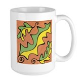 Green Yellow Leaves Mug