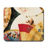 Vintage Japanese Fan Art Mousepad