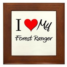 I Heart My Forest Ranger Framed Tile