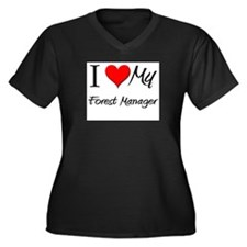 I Heart My Forest Manager Women's Plus Size V-Neck