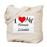 I Heart My Forensic Scientist Tote Bag