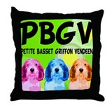 PBGV Pop Art Throw Pillow