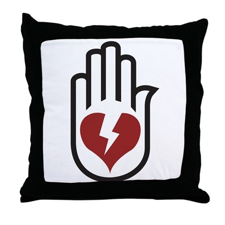 Hand On Heart Throw Pillow