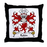 Robin Family Crest Throw Pillow