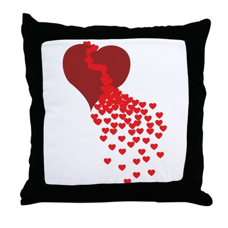 Thousands Of Hearts Throw Pillow