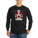 Rhos Family Crest Long Sleeve Dark T-Shirt