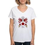 Rhos Family Crest Women's V-Neck T-Shirt