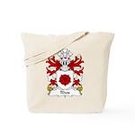 Rhos Family Crest Tote Bag