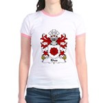 Rhos Family Crest Jr. Ringer T-Shirt