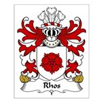 Rhos Family Crest Small Poster