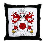Rhos Family Crest Throw Pillow