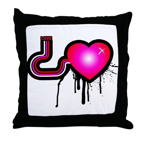 Love Pump Throw Pillow