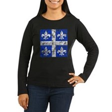 Quebec Fleur-de-lis Women's Long Sleeve Dark Tee