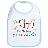 I'm Going To Grandma's Bib