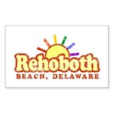 Sunny Gay Rehoboth Beach, Delaware Decal