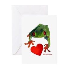 I Love Tree Frogs Greeting Card