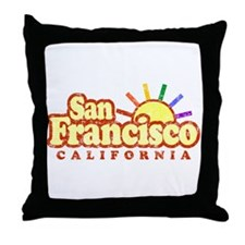 Sunny Gay San Francisco, California Throw Pillow