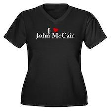 I Heart John McCain Women's Plus Size V-Neck Dark