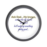 Ask Dad Wall Clock