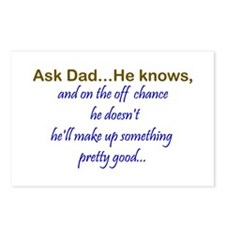 Ask Dad Postcards (Package of 8)