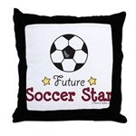 Future Soccer Star Soccer Throw Pillow