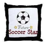 Future Soccer Star Soccer Throw Pillow