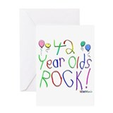 42 Year Olds Rock ! Greeting Card