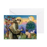 St Francis / Siamese Greeting Card