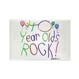 40 Year Olds Rock ! Rectangle Magnet (100 pack)