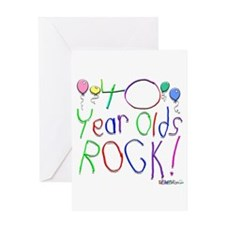 40 Year Olds Rock ! Greeting Card