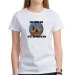 lucky duck wanting more love Women's T-Shirt