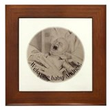 Welcome Baby Andrew Framed Tile