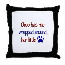 Oreo - Wrapped Around Her Lit Throw Pillow