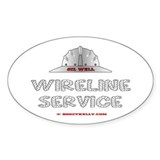 Wireline Service Oval Decal
