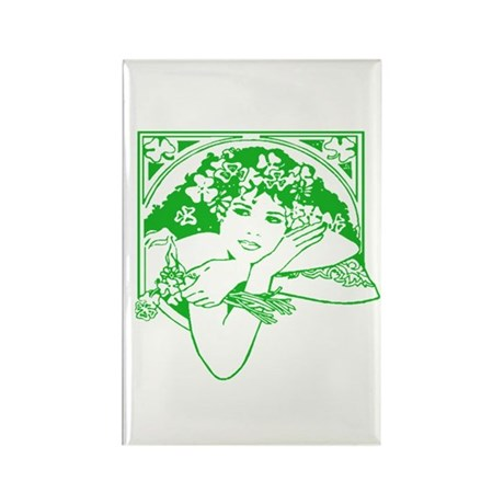 Kiss Me Irish Girl Rectangle Magnet