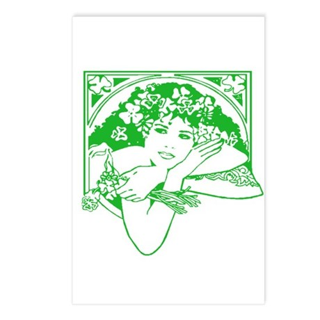 Kiss Me Irish Girl Postcards (Package of 8)