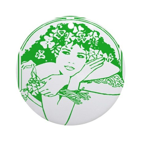 Kiss Me Irish Girl Ornament (Round)