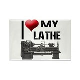 I Heart (Love) My Lathe Rectangle Magnet