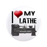 "I Heart (Love) My Lathe 3.5"" Button (100 pack)"