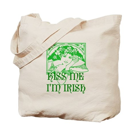 Kiss Me Irish Girl Tote Bag