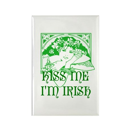 Kiss Me Irish Girl Rectangle Magnet (100 pack)