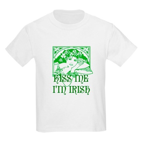 Kiss Me Irish Girl Kids Light T-Shirt