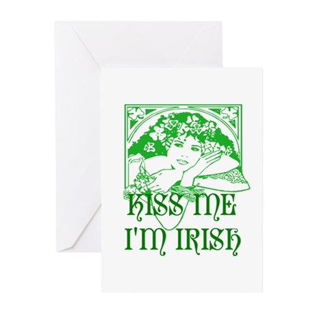 Kiss Me Irish Girl Greeting Cards (Pk of 10)