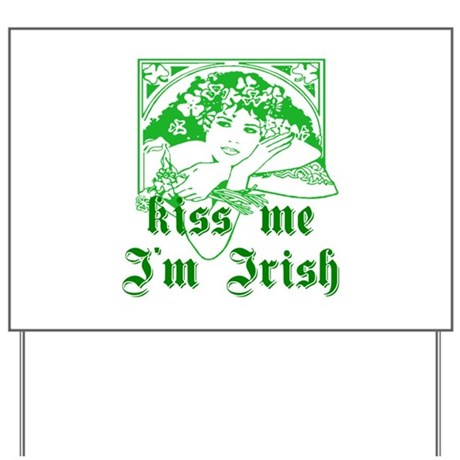 Kiss Me Irish Girl Yard Sign