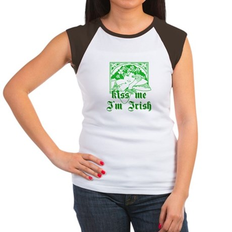 Kiss Me Irish Girl Women's Cap Sleeve T-Shirt