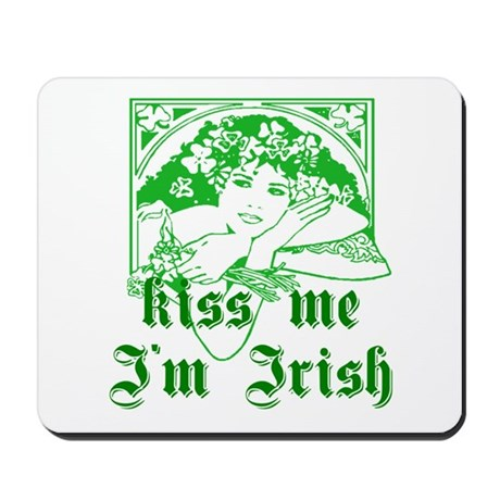 Kiss Me Irish Girl Mousepad