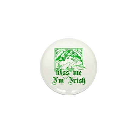 Kiss Me Irish Girl Mini Button (10 pack)