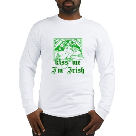 Kiss Me Irish Girl Long Sleeve T-Shirt