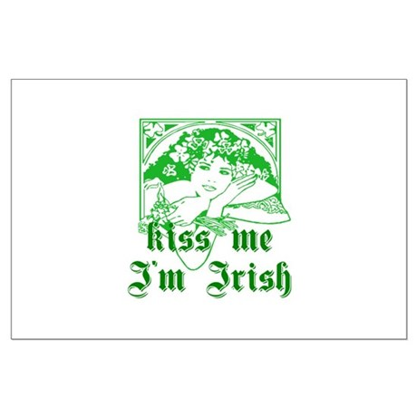 Kiss Me Irish Girl Large Poster